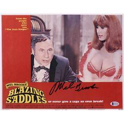 """Mel Brooks Signed """"Blazing Saddles"""" 11x14 Photo (Beckett COA)"""