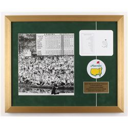 """Jack Nicklaus """"The Masters"""" 18x22 Custom Framed Photo Display with Scorecard  Patch"""