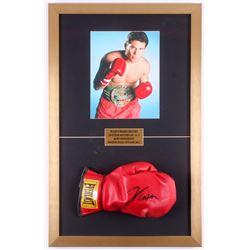 Julio César Chávez Signed 17x27 Custom Framed Everlast Boxing Glove Display (JSA COA)