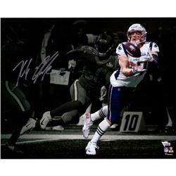 "Rob Gronkowski Signed New England Patriots Super Bowl LIII ""Catch"" 16x20 Photo (Fanatics Hologram)"
