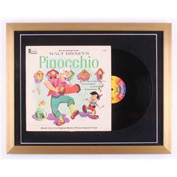 "Vintage 1959 Walt Disney's ""Pinocchio"" 19x24 Custom Framed Vinyl Album Display"