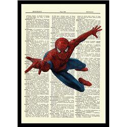 Spider-Man - Marvel Comics - Unique Original Antique Dictionary Page Art Print (8x10)