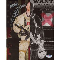 """US Navy Seal Robert J. O'Neill Signed Osama Bin Laden Collage 8x10 Photo Inscribed """"Never Quit!"""" (PS"""