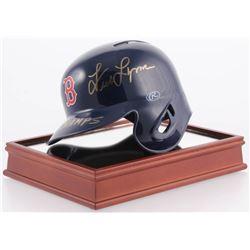 "Jim Rice  Fred Lynn Signed Boston Red Sox Mini-Helmet Inscribed ""75 AL Champs"" (Beckett COA)"