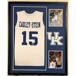 Willie Cauley-Stein Signed Kentucky Wildcats 34x42 Custom Framed Jersey (JSA COA)