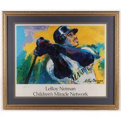 Ken Griffey Jr. Signed 27.5x32.5 Custom Framed Print (JSA ALOA)