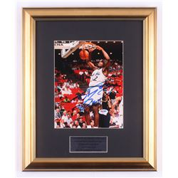 Shaquille O'Neal Signed Orlando Magic 14.5x17.5 Custom Framed Photo Display (PSA COA)