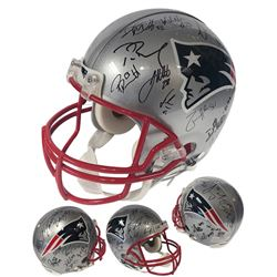 2019 New England Patriots Team-Signed LE Authentic On-Field Helmet with (25+) Signatures Including T
