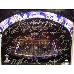 "2019 New England Patriots Team-Signed ""Super Bowl LIII"" LE 16x20 Photo with (20+) Signatures Includi"