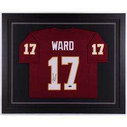 "Charlie Ward Signed Florida State Seminoles 35.5x43.5 Custom Framed Jersey Inscribed ""93 Heisman"" (R"