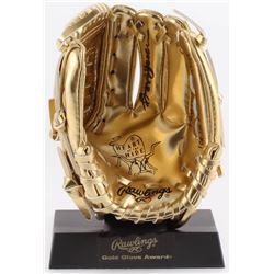 Reggie Jackson Signed Rawlings Gold Mini-Baseball Glove (Beckett COA)