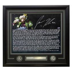 Jason Kelce Signed Super Bowl 52 Speech Transcript 22x27 Custom Framed Photo Display (Beckett COA)