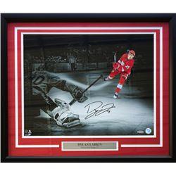 Dylan Larkin Signed Detroit Red Wings 22x27 Custom Framed Photo Display (UDA Hologram)