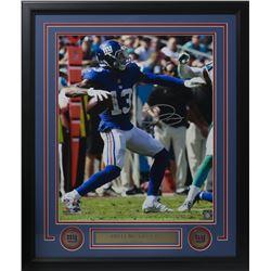 Odell Beckham Jr. Signed New York Giants 22x27 Custom Framed Photo Display (JSA COA)