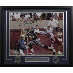 "Michael ""Playmaker"" Irvin Signed Dallas Cowboys 22x27 Custom Framed Photo Display (JSA COA)"