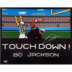 "Bo Jackson Signed Los Angeles Raiders ""Tecmo Bowl"" 16x20 Photo (Beckett COA)"