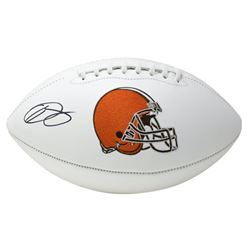 Odell Beckham Jr. Signed Cleveland Browns Logo Football (JSA COA)