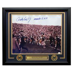 "Rudy Ruettiger Signed Notre Dame Fighting Irish 22x27 Custom Framed Photo Display Inscribed ""Novembe"
