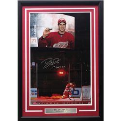 "Dylan Larkin Signed LE Detroit Red Wings 22x27 Custom Framed Photo Display Inscribed ""1st Goal 10-9-"