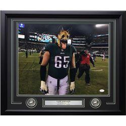 Lane Johnson Signed Philadelphia Eagles 22x27 Custom Framed Photo Display (JSA COA)