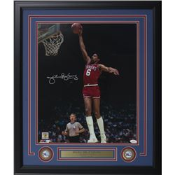 "Julius ""Dr. J"" Erving Signed Philadelphia 76ers 22x27 Custom Framed Photo Display (JSA COA)"