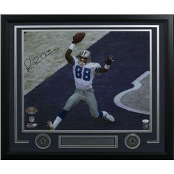 "Michael ""Playmaker"" Irvin Signed Dallas Cowboys 22x27 Custom Framed Photo Display (JSA COA)"