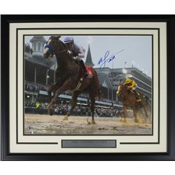 Mike Smith Signed 22x27 Custom Framed Photo Display (Beckett COA)