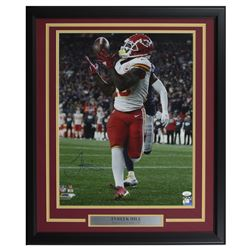 Tyreek Hill Signed Kansas City Chiefs 22x27 Custom Framed Photo Display (JSA COA)