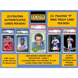 ICON AUTHENTIC 100X DOUBLE GRADED CARD MYSTERY BOX SERIES-7