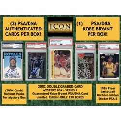 Icon Authentic 200X Double Graded Card Mystery Box Series 1 - (200+ Cards Per Box)