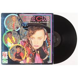 Culture Club - Colour by Numbers Vinyl Record Album Signed by (4) with Boy George, Roy Hay, Mikey Cr