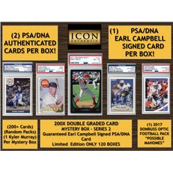 Icon Authentic 200X Double Graded Card Mystery Box Series 2 - (200+ Cards Per Box)