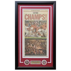 2008 Philadelphia Phillies 18x28 Custom Framed Newspaper Display