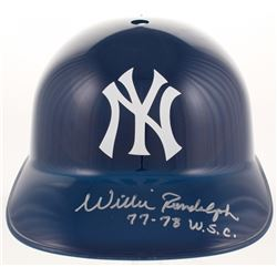 "Willie Randolph Signed New York Yankees Full-Size Replica Batting Helmet Inscribed ""77-78 W.S.C."" (J"