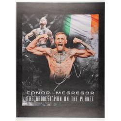 Conor McGregor Signed 24x34 Photo on Canvas (JSA COA)