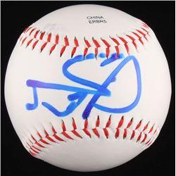 Jason Statham Signed OL Baseball (JSA COA)