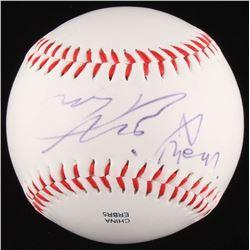"James McAvoy Signed OL Baseball Inscribed ""X Men"" (JSA COA)"