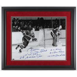 Bobby Hull Signed Chicago Blackhawks 23x27 Custom Framed Photo Display with (5) Inscriptions (Schwar