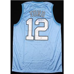 "Phil Ford Signed North Carolina Tar Heels Jersey Inscribed ""78 POY"" (PSA COA)"