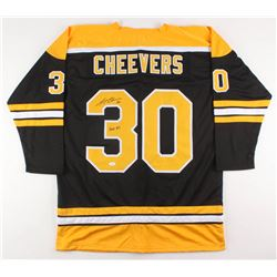 "Gerry Cheevers Signed Boston Bruins Jersey Inscribed ""HOF 85"" (JSA COA)"