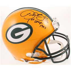 "LeRoy Butler Signed Green Bay Packers Full-Size Authentic On-Field Helmet Inscribed ""1st Leap 1993"""