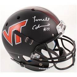 Terrell Edmunds Signed Virginia Tech Hokies Full-Size Helmet (Radtke COA)