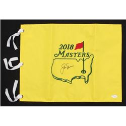 Jack Nicklaus Signed 2018 Masters Tournament Pin Flag (JSA LOA)