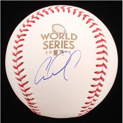 Carlos Correa Signed 2017 World Series Baseball (JSA COA)