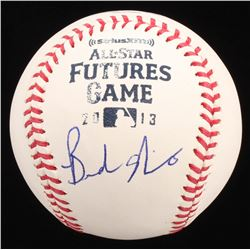 Brandon Nimmo Signed OML 2013 All-Star Futures Game Baseball (JSA COA)