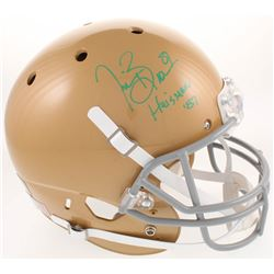 "Tim Brown Signed Notre Dame Fighting Irish Full-Size Helmet Inscribed ""Heisman '87"" (Radtke COA)"