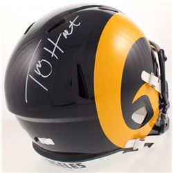 Torry Holt Signed Los Angeles Rams Color Rush Full-Size Speed Helmet (Radtke COA)