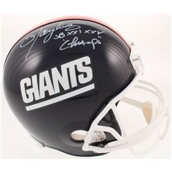 "Lawrence Taylor Signed New York Giants Full-Size Helmet Inscribed ""SB XXI, XXV Champs"" (Radtke COA)"