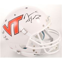 Terrell Edmunds  Tremaine Edmunds Signed Virginia Tech Hokies Full-Size Helmet (Radtke COA)