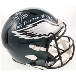 "Brian Dawkins Signed Philadelphia Eagles Full-Size Speed Helmet Inscribed ""Last To Wear #20"" (JSA CO"